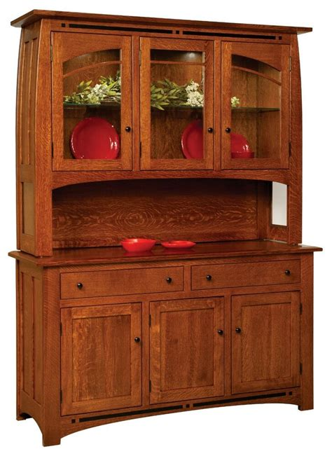 Solid Wood Hutch - amish boulder creek mission hutch buffet server china