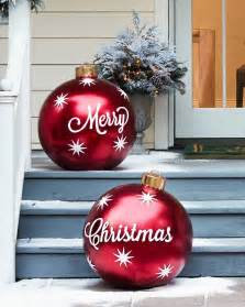 outdoor merry christmas ornaments balsam hill