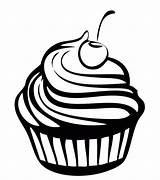 Coloring Cupcake Sweet Pages Cupcakes Chocolate Cookie Cookies sketch template
