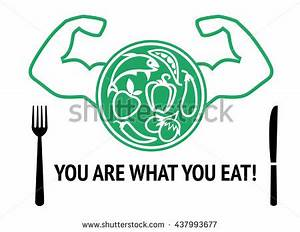 Healthy Nutrition Food Health Eating Balanced Stock Vector ...