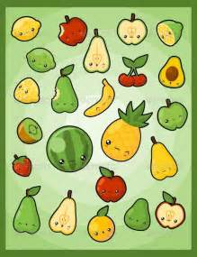 Kawaii Fruit Drawings