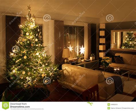 living room tree tree in modern living room stock photo image