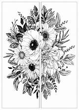 Coloring Flowers Parts Pages Pretty Spring Adult Et Adults Sunflower Fleurs Justcolor These Nature Books sketch template