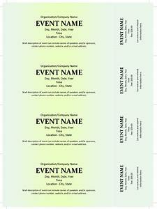 Ms Word Business Letter Template Commercial Event Ticket Template