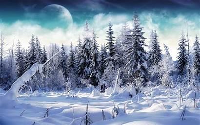 Winter Wallpapers Desktop Snow Landscape Snowy Backgrounds