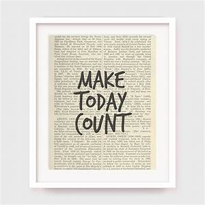 motivational wall art make today count printable office wall With motivational wall art