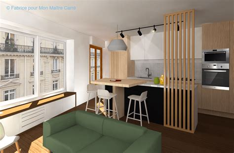 cloison cuisine salon avant après optimiser l espace avec une cuisine ouverte