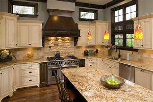 white tan and dark cabinet kitchen like granite color With kitchen colors with white cabinets with wall art stone
