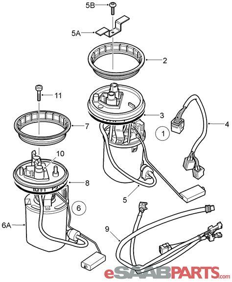 Saab Fuel Diagram by 30587077 Saab Fuel 1998 2005 9 5 Saab Parts