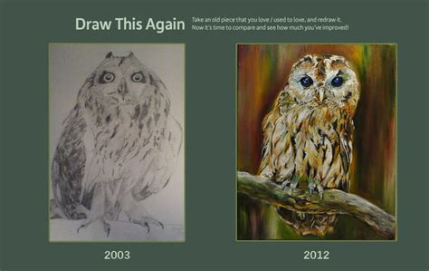 How To Draw An Owl Meme - draw this owl again by evelinevdp on deviantart