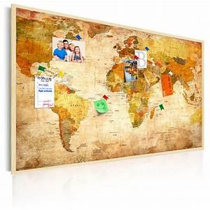 Pinnwand Weltkarte Kork : bild weltkarte pinnwand retro vintage braun holzfaserplatte wie kork memotafel ebay ~ Markanthonyermac.com Haus und Dekorationen