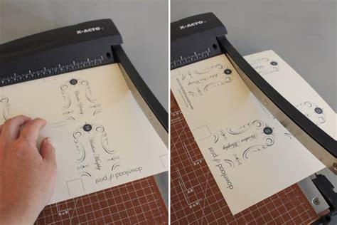 elegant place card template  print
