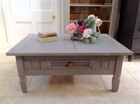 Grey Hand Painted Pine Coffee Table Annie Sloan French