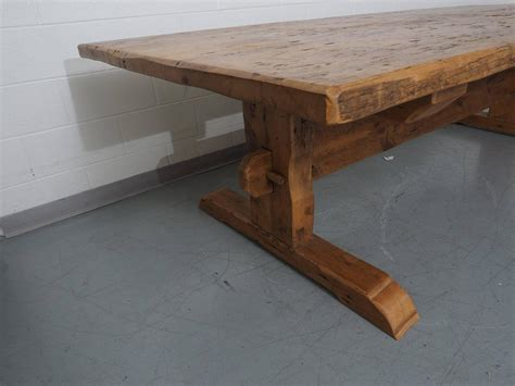 distressed trestle dining table distressed solid wood trestle table at 1stdibs 6791