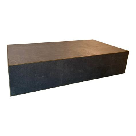 Free shipping on all textiles. Restoration Hardware Shagreen Plinth Coffee Table | Chairish