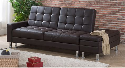 Foxhunter Pu Sofa Bed With Storage 3 Seater Guest Sleeper