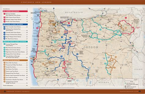 oregon state park map oregon map