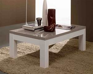 Table Basse Blanc Gris : table basse roma laque bicolore blanc gris blanc gris ~ Teatrodelosmanantiales.com Idées de Décoration