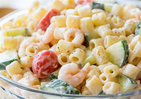 la meilleure cuisine du monde recette facile de salade de pâtes aux crevettes