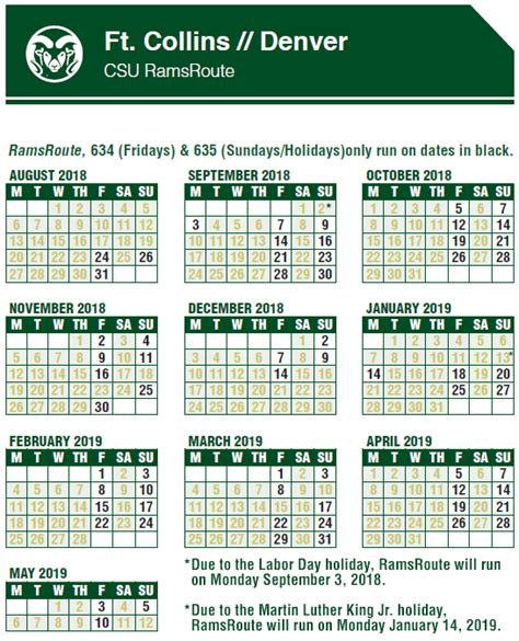 ramsroute csu bus schedule bustang colorado state university bus