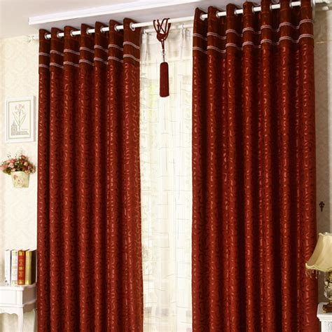 high end chenille burgundy blackout geometric curtains