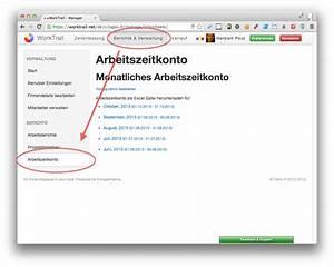 Excel Arbeitszeit Berechnen Minusstunden : arbeitszeitkonto im excel format worktrail ~ Themetempest.com Abrechnung
