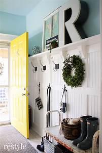 classic, farmhouse, entryway, makeover