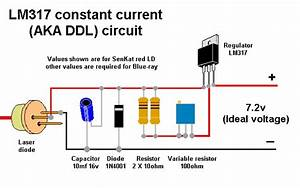 Looking Red Laser Diode Circuit Under Repository