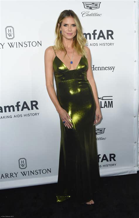Heidi Klum Wolk Morais Amfar Inspiration Gala Los