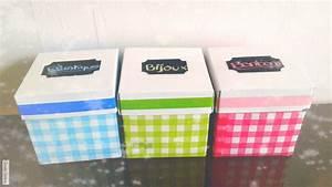 Boite En Carton À Décorer : d i y d corer des bo tes avec des serviettes en papier youtube ~ Melissatoandfro.com Idées de Décoration
