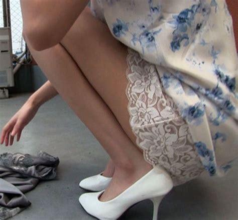 let s be candid peeking slip slip on slips und shoes
