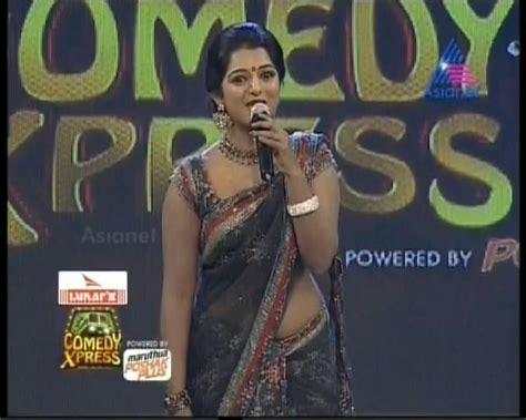 Malayalam Television Anchor Meera Anil Hot Navel And