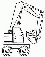 Coloring Pages Excavator Shovel Backhoe Colouring Truck Material Print Printable Construction Boy Boys Adult Oncoloring Trucks Visit Vehicles Crafts Enregistree sketch template