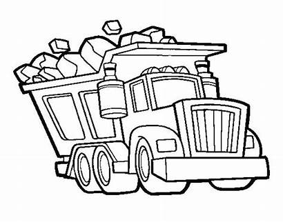 Coloring Truck Dump Pages Printable Trucks Garbage