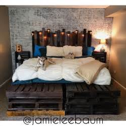 King Size Pallet Bed And Headboard Diy Rustic Industrial Interiors Inside Ideas Interiors design about Everything [magnanprojects.com]
