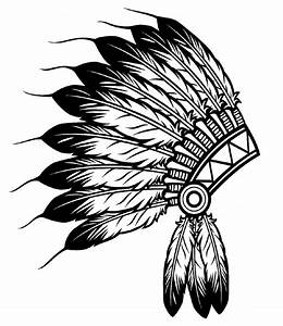 Free coloring page coloring-indian-headdress. The Indian ...