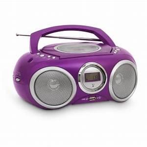 Poste Radio Maison : lecteur cd portable violet mp3 usb jouet multim dia ~ Premium-room.com Idées de Décoration