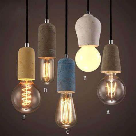 Rustic Concrete Exposed Edison Bulb Mini Pendant Light
