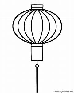 Chinese Lantern - Coloring Page (Chinese New Year)