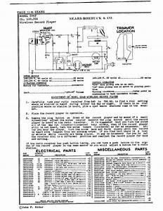 Sears Roebuck  U0026 Co  Wireless Record Player