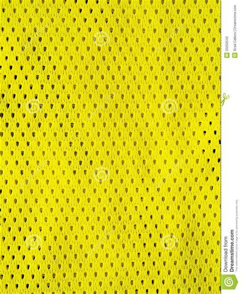 yellow sports jersey stock image image  fabric uniform