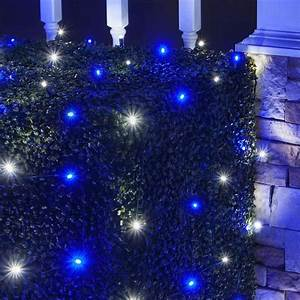 Holiday Time Rope Lights Led Net Lights 5mm 4 39 X 6 39 Blue Cool White Led Net
