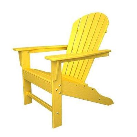 yellow adirondack chairs patio chairs the home depot