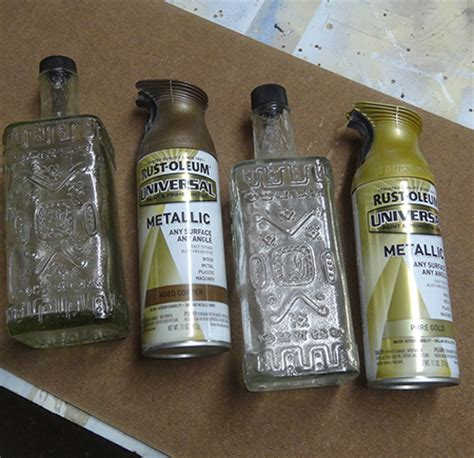 home dzine craft ideas revamp recycled bottles  rust
