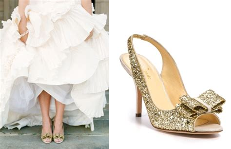 sparkly wedding shoes  kate spade