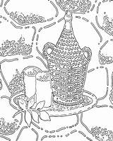 Coloring Pages Printable Adult Adults Abstract sketch template
