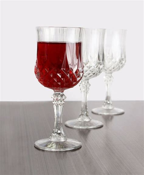 oz crystal  hard plastic disposable wine glasses