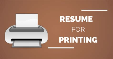 resume printing best paper type size color and weight