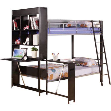 Metal Bunk Bed With Desk by Risley Metal Bunk Bed With Desk Silver
