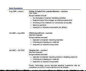 cv templates free nz resume cv templates free